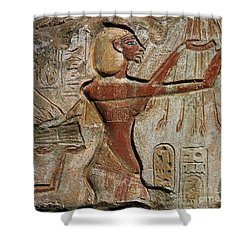 Akhenaten, New Kingdom Egyptian Pharaoh Shower Curtain by Science Source
