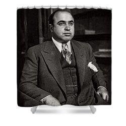 Al Capone - Scarface Shower Curtain by Doc Braham