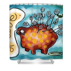 Al Dente Shower Curtain by Kelly Jade King
