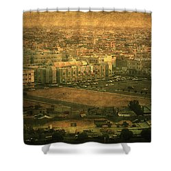 Al-khobar On Texture Shower Curtain