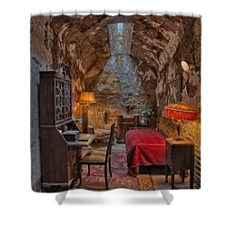 Al Scarface Capone Cell Shower Curtain by Susan Candelario