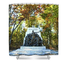 Alabama Monument At Gettysburg Shower Curtain by Paul W Faust -  Impressions of Light