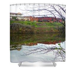Alabama River Selma 3 Shower Curtain