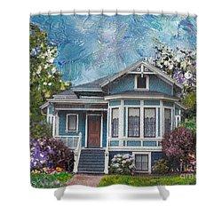 Alameda 1884 - Eastlake Cottage Shower Curtain