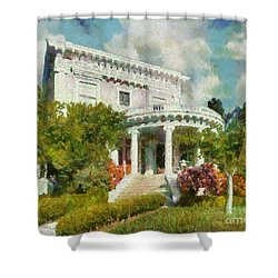 Alameda 1896-97 Colonial Revival Shower Curtain by Linda Weinstock