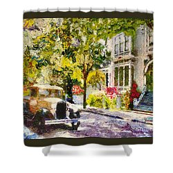 Alameda  Afternoon Drive Shower Curtain by Linda Weinstock