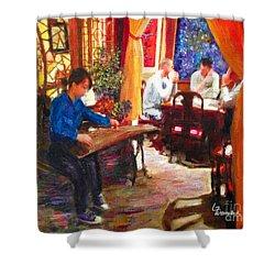 Guzheng Shower Curtain