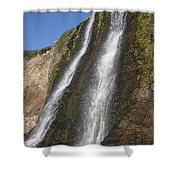 Alamere Falls Pacific Coast Shower Curtain by Garry Gay