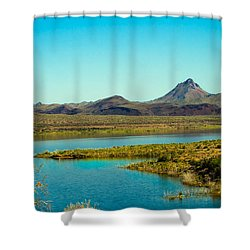 Alamo Lake Shower Curtain