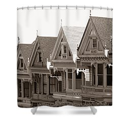 Alamo Square - Victorian Painted Ladies 2009 Shower Curtain by Connie Fox