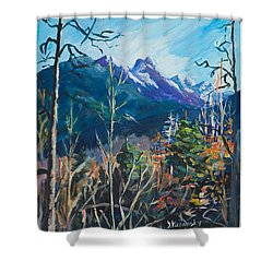 Alaska Autumn Shower Curtain