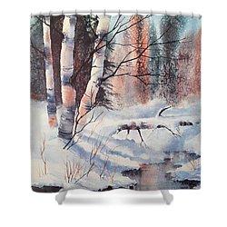 Alaska Birch II Shower Curtain by Teresa Ascone
