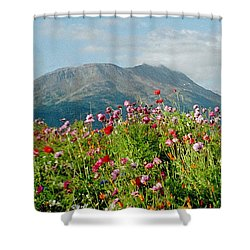 Alaska Flowers In September Shower Curtain