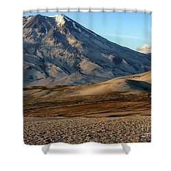 Shower Curtain featuring the photograph Alaska Landscape Scenic Mountains Snow Sky Clouds by Paul Fearn