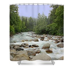 Alaska - Little Susitna River Shower Curtain by Kim Hojnacki
