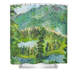 Alaska  Mountain Range Shower Curtain