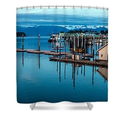 Alaska Seaplanes Shower Curtain by Mike Reid