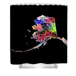 Alaska State 2 Shower Curtain by Daniel Hagerman