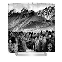 Alaskan Mountains Shower Curtain