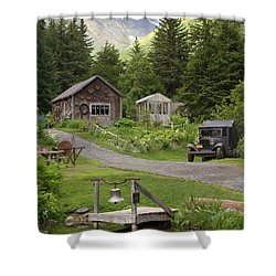 Alaskan Pioneer Mining Camp Shower Curtain