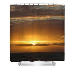 Shower Curtain featuring the photograph Alaskan Sunset by Jennifer Wheatley Wolf