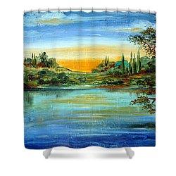 Alba Sul Lago Shower Curtain by Roberto Gagliardi