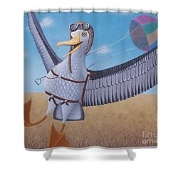 Albatross Landing Shower Curtain by Susan Williams