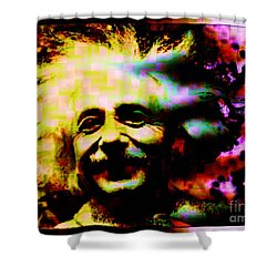 Albert Einstein - Why Is It That Nobody Understands Me - Yet Everybody Likes Me Shower Curtain by Elizabeth McTaggart