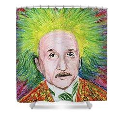 Albert Einstein Shower Curtain by Yoshiko Mishina