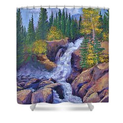 Alberta Falls Shower Curtain by Margaret Bobb