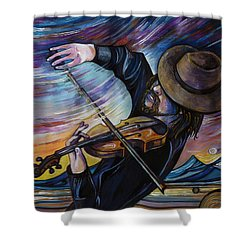 Alberta Fiddle Shower Curtain