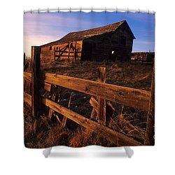 Alberta Homestead Shower Curtain by Bob Christopher