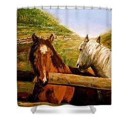Alberta Horse Farm Shower Curtain