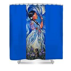 Alberta Spring Shower Curtain by Anna  Duyunova