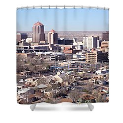 Albuquerque Skyline Shower Curtain by Bill Cobb