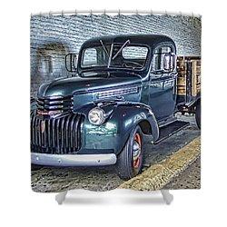 Alcatraz 1940 Chevy Utility Truck Shower Curtain by Daniel Hagerman