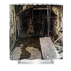 Alcatraz Island Morgue Shower Curtain by Daniel Hagerman
