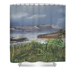Alcatraz Shower Curtain by Michael Daniels
