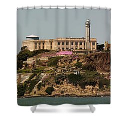 Alcatraz Panorama Shower Curtain