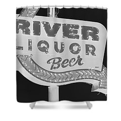 Alcohol Sign Shower Curtain