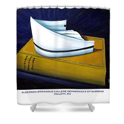 Shower Curtain featuring the painting Alderson-broaddus College by Marlyn Boyd