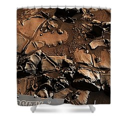 Alexander Hills Bedrock In Mars Shower Curtain
