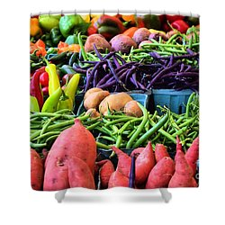 Shower Curtain featuring the photograph Alexandria Farmers Market by John S