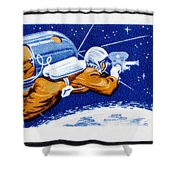 Alexey Leonov Stamp Shower Curtain by GIPhotoStock