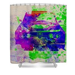 Alfa Romeo Front Watercolor 1 Shower Curtain by Naxart Studio