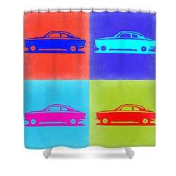 Alfa Romeo Gtv Pop Art 2 Shower Curtain by Naxart Studio