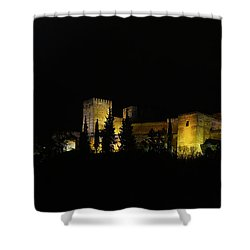 Shower Curtain featuring the photograph Alhambra At Night by Rudi Prott