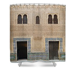 Shower Curtain featuring the photograph Alhambra Court Granada by Rudi Prott