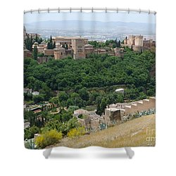 Alhambra Palace - Granada Shower Curtain by Phil Banks