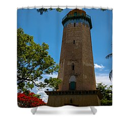 Alhambra Water Tower Of Coral Gables Shower Curtain